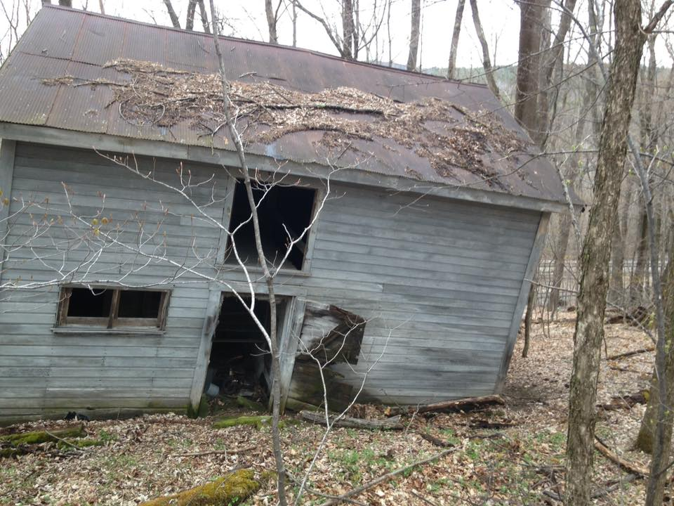 <b>Collapsing Barn, Ludlow Vermont May 2016<b>